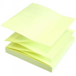 POST IT COULEURS JAUNES ACCORDEONS X 6 BLOCS